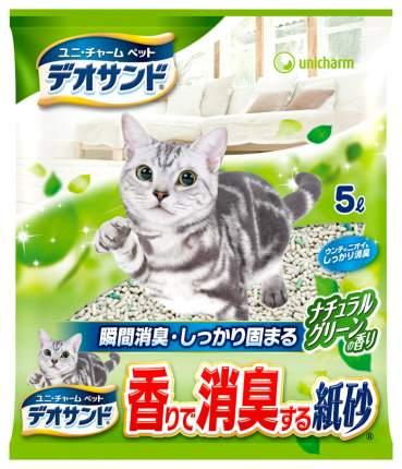 Впитывающий наполнитель для кошек UNICHARM бентонитовый, зеленый чай, 2.3 кг, 5 л