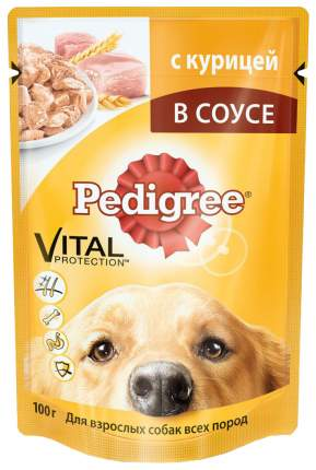 Влажный корм для собак Pedigree, курица, 24шт, 100г