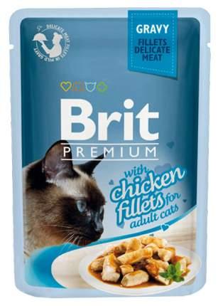 Влажный корм для кошек Brit Premium, курица, 24шт, 85г