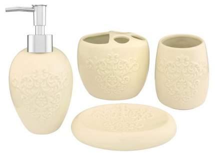 Набор для ванной Elan Gallery «Узор» 4 предмета Молочный