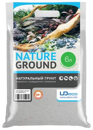 Мраморный песок для аквариумов и террариумов UDeco River Marble, бежевый, 0,2-0,5 мм 6 л