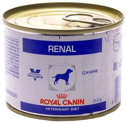 Влажный корм для собак Royal Canin Renal при почечной недостаточности 200 г 12 шт