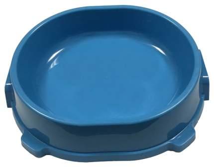 Одинарная миска для кошек и собак FAVORITE, пластик, голубой, 0.22 л