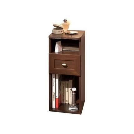 Тумба прикроватная приставная Глазов мебель Шерлок 51 28,2x35,3x69,6 см, орех шоколадный