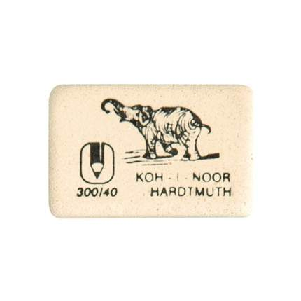Koh-I-Noor Ластик KOH-I-NOOR 300/40 каучук 35х28х8 мм белый, арт, 300/40