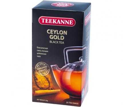 Чай Teekanne цейлон голд черный 25 пакетиков