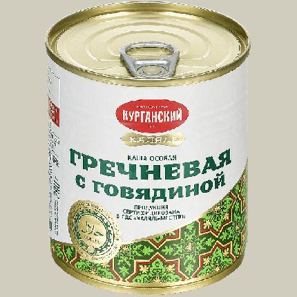 Каша гречневая с говядиной Курганский МК халяль 290 г