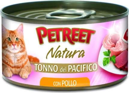 Консервы для кошек Petreet Natura, тунец, курица, морепродукты, кусочки, 70г