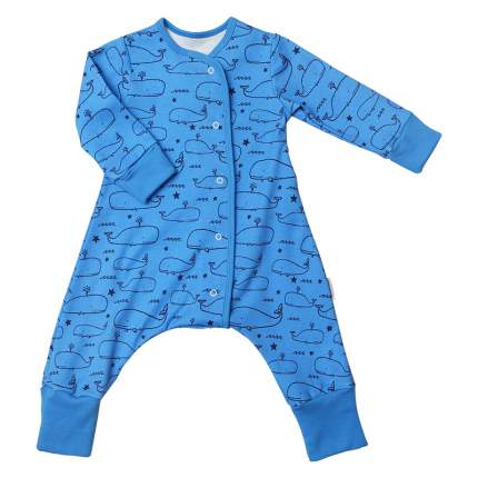 Пижама на кнопках Bambinizon Киты р.98