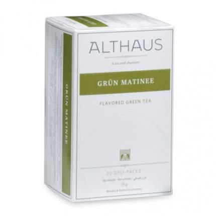 Чай Althaus Grün Matinee Deli Pack 20*1.75 г