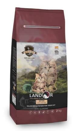 Сухой корм для котят Landor KITTEN, утка с рисом, 2кг
