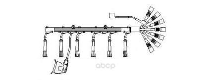 Высоковольтные провода комплект BREMI 517/100