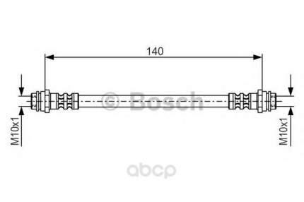 Шланг тормозной системы Bosch 1987476952 задний