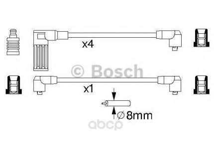 Комплект высоковольтных проводов Bosch 0986356718