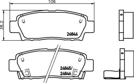 Комплект тормозных дисковых колодок NISSHINBO NP1092