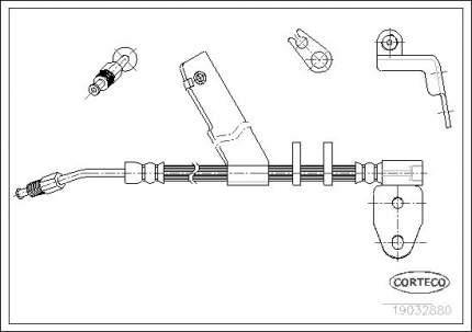 Шланг тормозной системы CORTECO 19032880