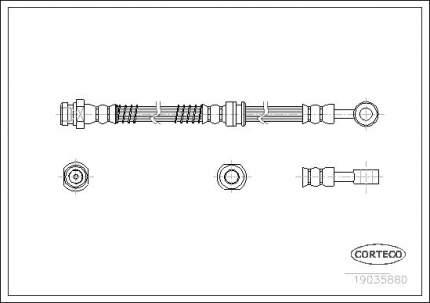 Шланг тормозной системы CORTECO 19035880