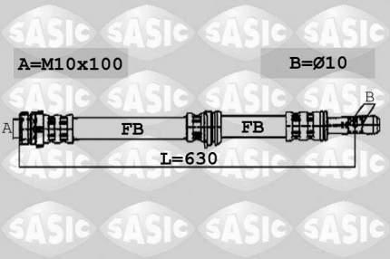 Шланг тормозной SASIC 6600058