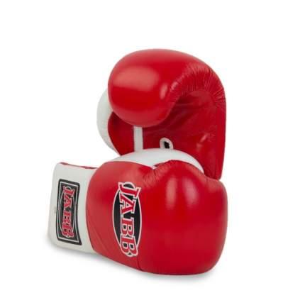 Боксерские перчатки Jabb JE-2000 белые/красные 12 унций
