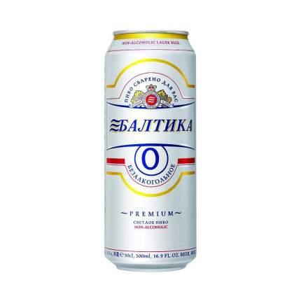 Пиво Балтика №0 безалкогольное в банке 0.45 л