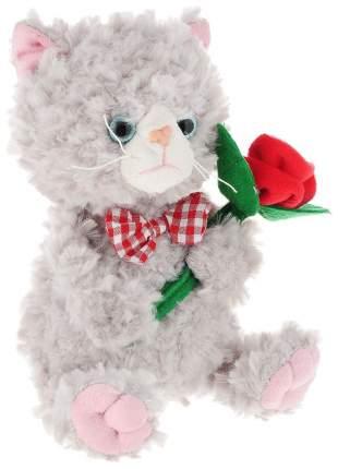 Мягкая игрушка Angel Collection Котик с цветком 25 см