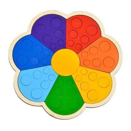 RADUGA KIDS Мозаика-сортер деревянный Цветик-семицветик 15390332