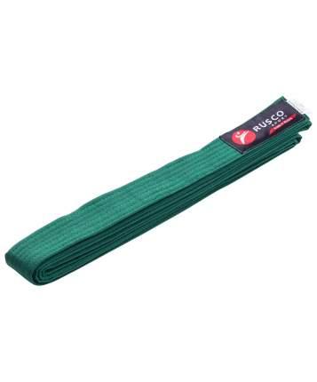 Пояс для единоборств Rusco Sport, 280 см, зеленый