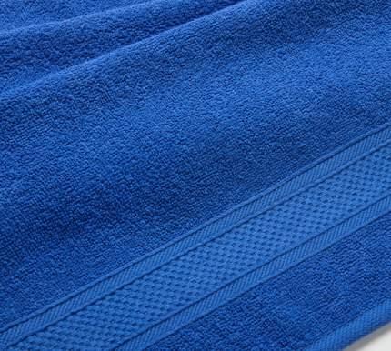 Полотенце махровое с бордюром (синее) 100х180