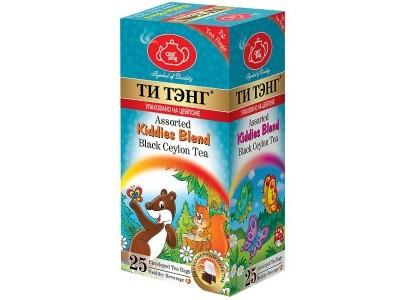 Чай черный в пакетиках для чашки 5 видов 25 штук Ти Тэнг Assorted Kiddies Blend