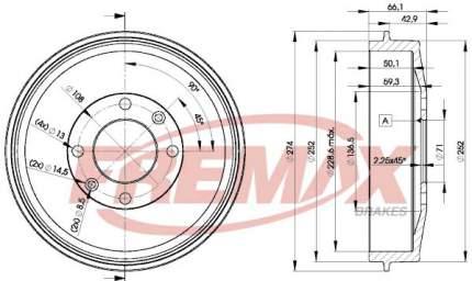 Тормозной барабан FREMAX BD-4724