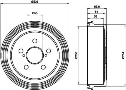 Тормозной барабан TEXTAR 94017900
