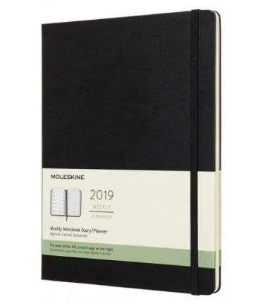 Еженедельник Moleskine CLASSIC WKNT XL 190х250мм черный