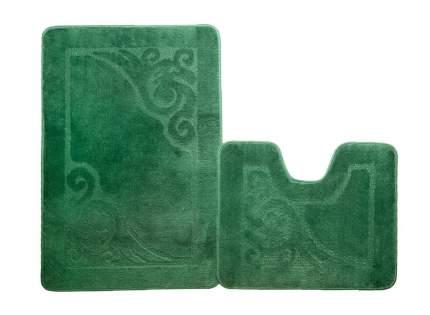 Набор ковриков для ванной ЭКО изумрудный, SHAHINTEX 5620-4