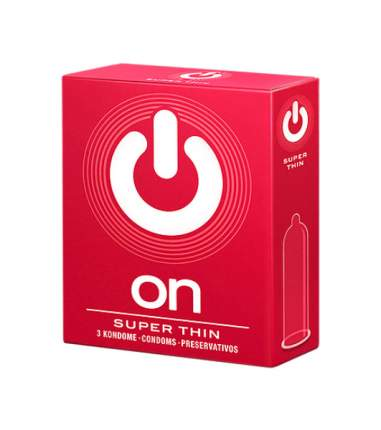 Презервативы ON Super Thin 3 шт.