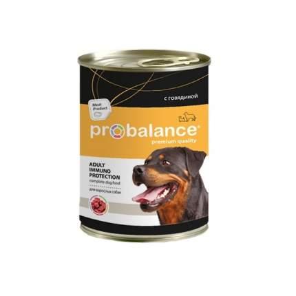 Влажный корм для собак Probalance Immuno Protection Adult, говядина, 12 шт. по 850 г
