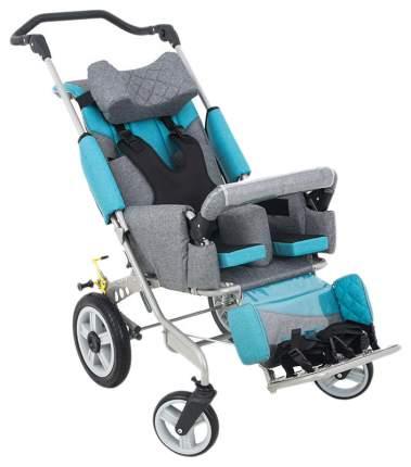 Кресло-коляска Akces-med Рейсер+ размер 2 с поворотными колесами синий козырёк