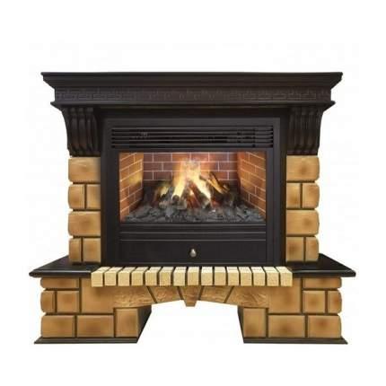 Электрокамин RealFlame Stone Brick, коричневый/бежевый