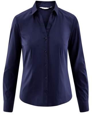 Блуза женская oodji синяя 40