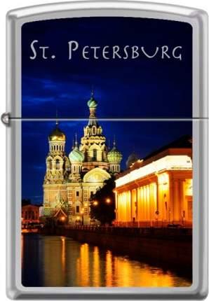 Бензиновая зажигалка Zippo №250 St Petersburg Church High Polish Chrome