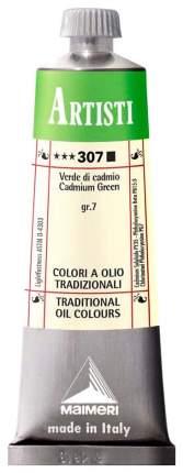 Масляная краска Maimeri Artisti кадмий зеленый 40 мл