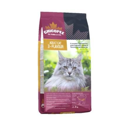 Сухой корм для кошек Chicopee 3-Flavour, рыба, свинина, домашняя птица, 2кг