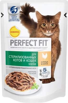 Влажный корм для кошек Perfect Fit Sterile, для стерилизованных, с курицей в соусе, 85г