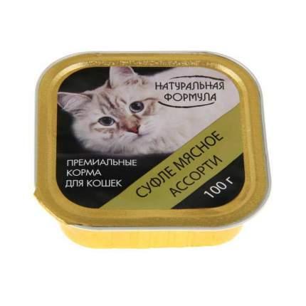 Консервы для кошек Натуральная Формула, мясное ассорти, 100г