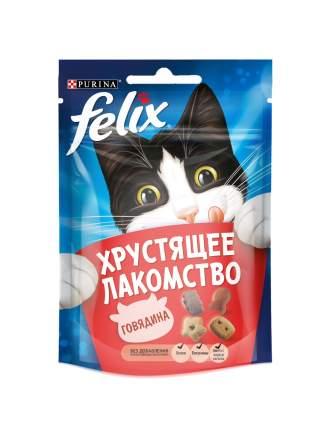 Хрустящее Лакомство для кошек Felix с говядиной, 15шт. по 20г