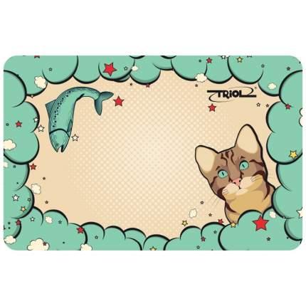 Коврик под миску TRIOL для кошек Кошечка 43 х 28 см MB07