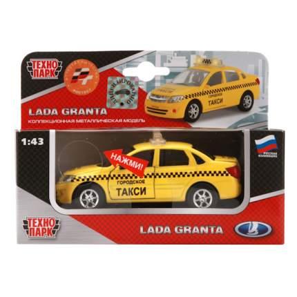 Машина Технопарк инерционная, металлическая Лада гранта такси, 1:43, со светом и звуком