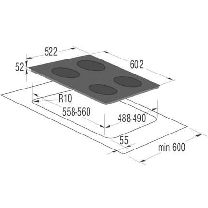 Встраиваемая варочная панель индукционная Gorenje IC6INB Black