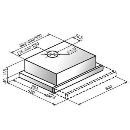 Вытяжка встраиваемая Elikor Интегра 60П-400-В2Л Black