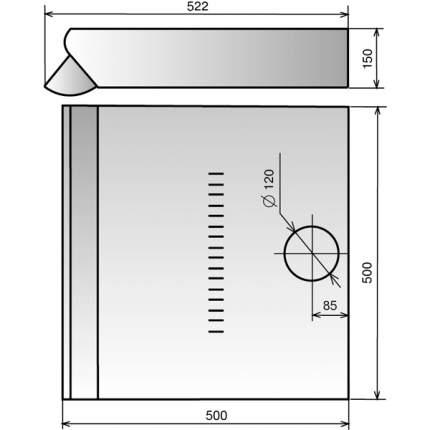 Вытяжка подвесная Elikor Призма 60П-290-П3Л White