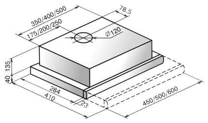 Вытяжка встраиваемая Elikor Интегра 60П-400-В2Л White